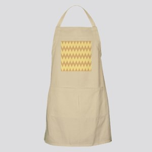 Tan and Light Brown Zigzags. Apron
