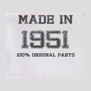 MADE IN 1951 100% ORIGINAL PARTS Throw Blanket