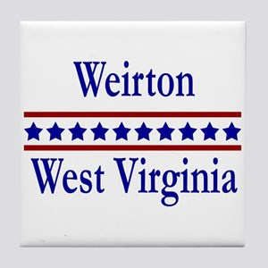 Weirton WV Tile Coaster