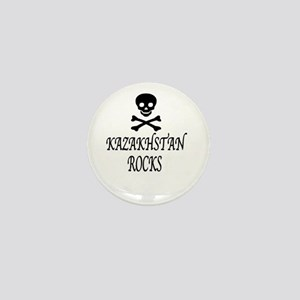 BLK SKULL KAZAKHSTAN ROCKS Mini Button