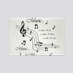 Music is Me Rectangle Magnet (10 pack)