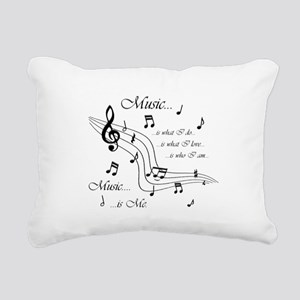 Music is Me Rectangular Canvas Pillow