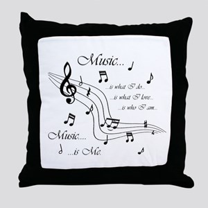 Music is Me Throw Pillow