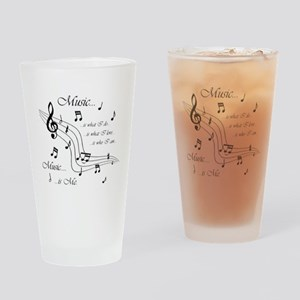 Music is Me Drinking Glass