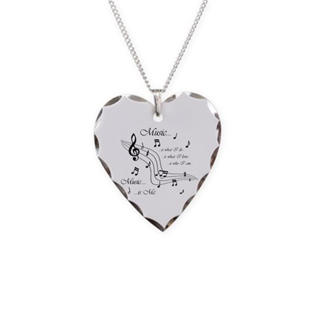 Music is Me Necklace Heart Charm