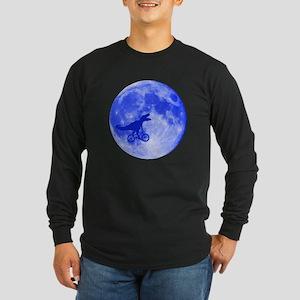 T-Rex Moon Long Sleeve Dark T-Shirt