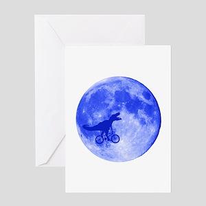 T-Rex Moon Greeting Card