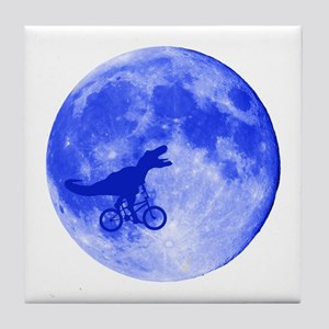 T-Rex Moon Tile Coaster