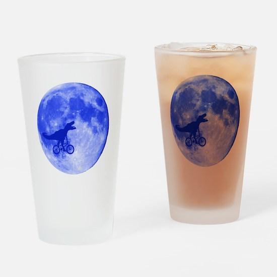 T-Rex Moon Drinking Glass