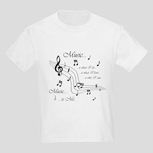 Music is Me Kids Light T-Shirt
