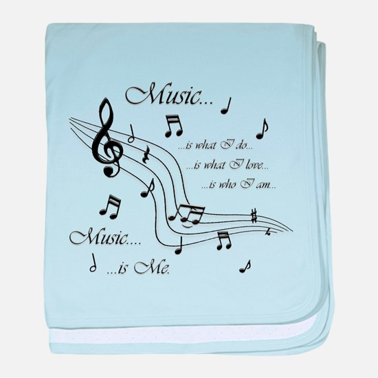 Music is Me baby blanket