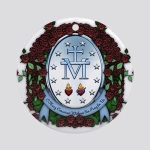 Miraculous Medal 2 Ornament (Round)