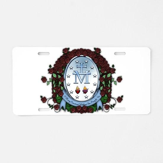 Miraculous Medal 2 Aluminum License Plate