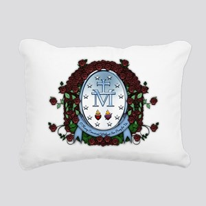 Miraculous Medal 2 Rectangular Canvas Pillow