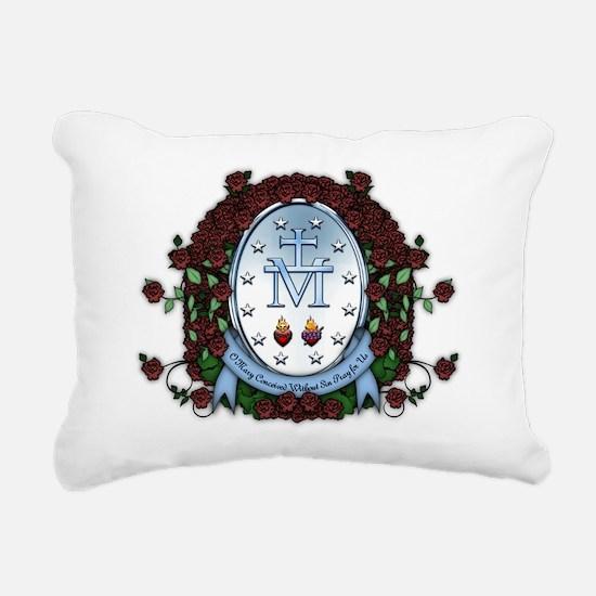 Miraculous Medal 2 Rectangular Canvas Pillow