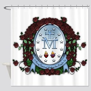 Miraculous Medal 2 Shower Curtain