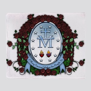 Miraculous Medal 2 Throw Blanket