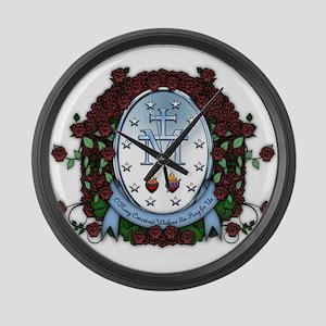 Miraculous Medal 2 Large Wall Clock