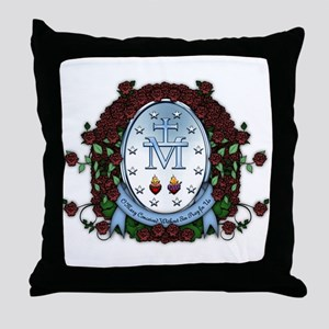 Miraculous Medal 2 Throw Pillow