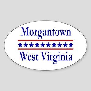Morgantown WV Oval Sticker