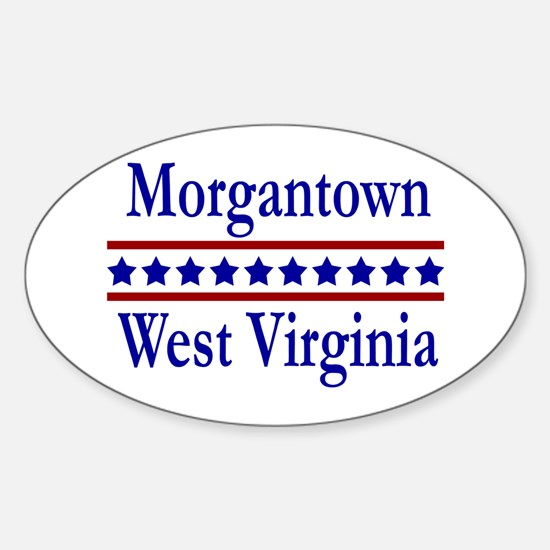 Morgantown WV Oval Decal