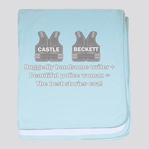 Castle and Beckett baby blanket