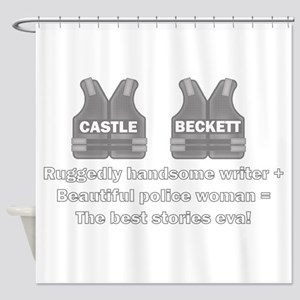 Castle and Beckett Shower Curtain