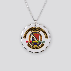 3rd Battalion, 1st Infantry Necklace Circle Charm