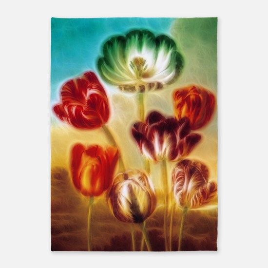 Tulips Under The Sky 5'x7'Area Rug