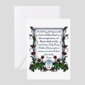 Hail Mary Greeting Card