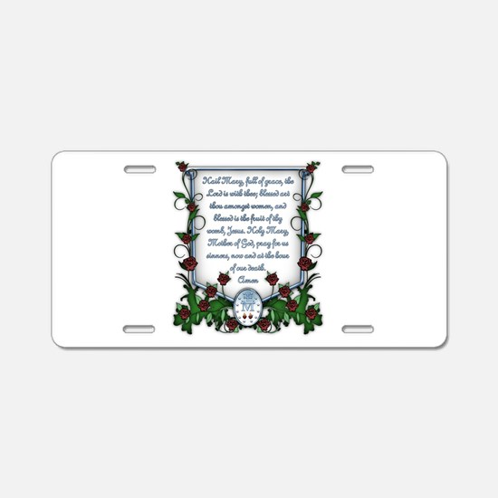 Hail Mary Aluminum License Plate