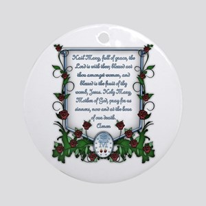 Hail Mary Ornament (Round)