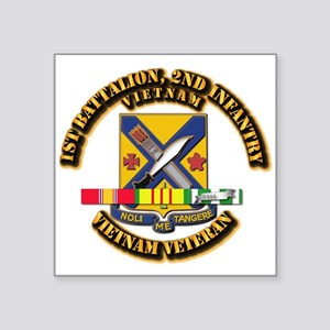 "1st Battalion, 2nd Infantry Square Sticker 3"" x 3"""
