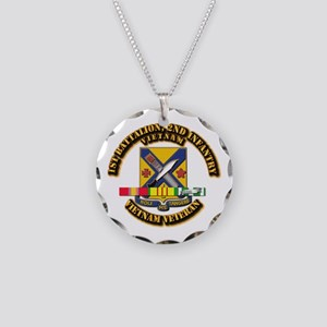 1st Battalion, 2nd Infantry Necklace Circle Charm