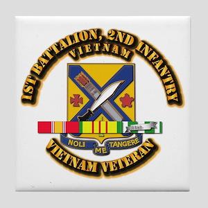 1st Battalion, 2nd Infantry Tile Coaster