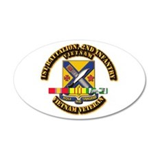1st Battalion, 2nd Infantry Wall Decal