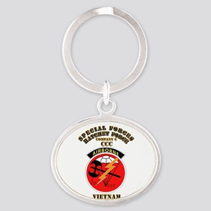 SOF - SF Hatchet Force - CCC - Vietnam Oval Keycha