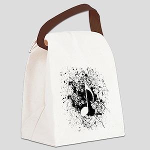 Music Splatter Canvas Lunch Bag