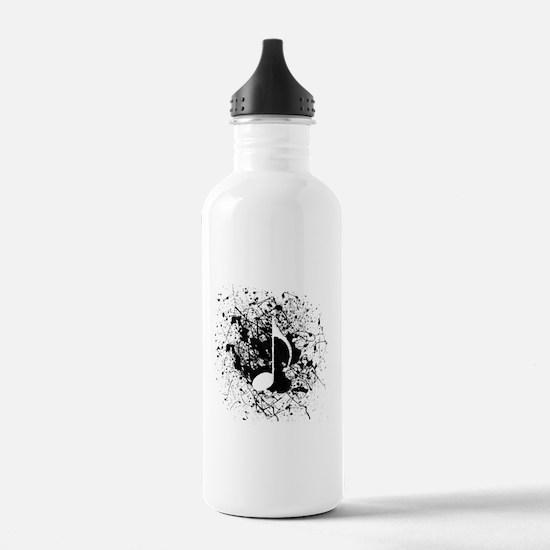 Music Splatter Water Bottle