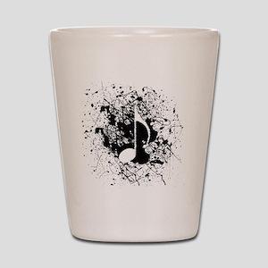 Music Splatter Shot Glass