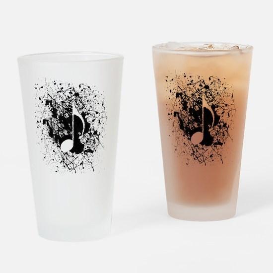 Music Splatter Drinking Glass