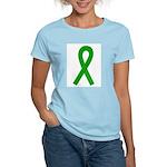 Green Awareness Ribbon Women's Light T-Shirt