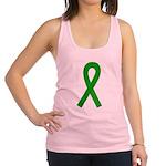 Green Awareness Ribbon Racerback Tank Top