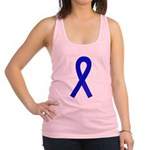 Blue Awareness Ribbon Racerback Tank Top