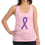 Violet Awareness Ribbon Racerback Tank Top