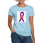 Purple Hope Heart Women's Light T-Shirt