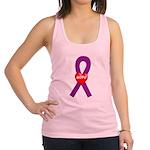 Purple Hope Heart Racerback Tank Top