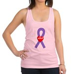 Violet Hope Ribbon Racerback Tank Top