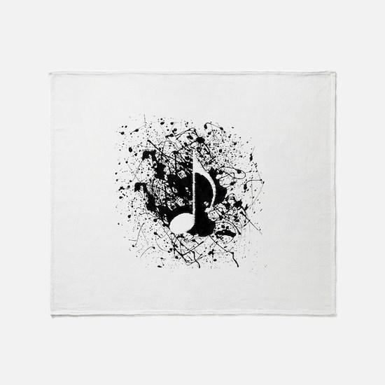 Music Splatter Throw Blanket
