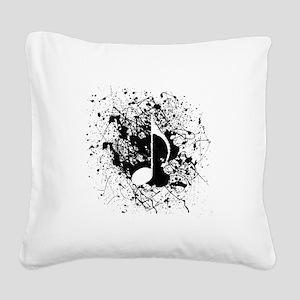 Music Splatter Square Canvas Pillow